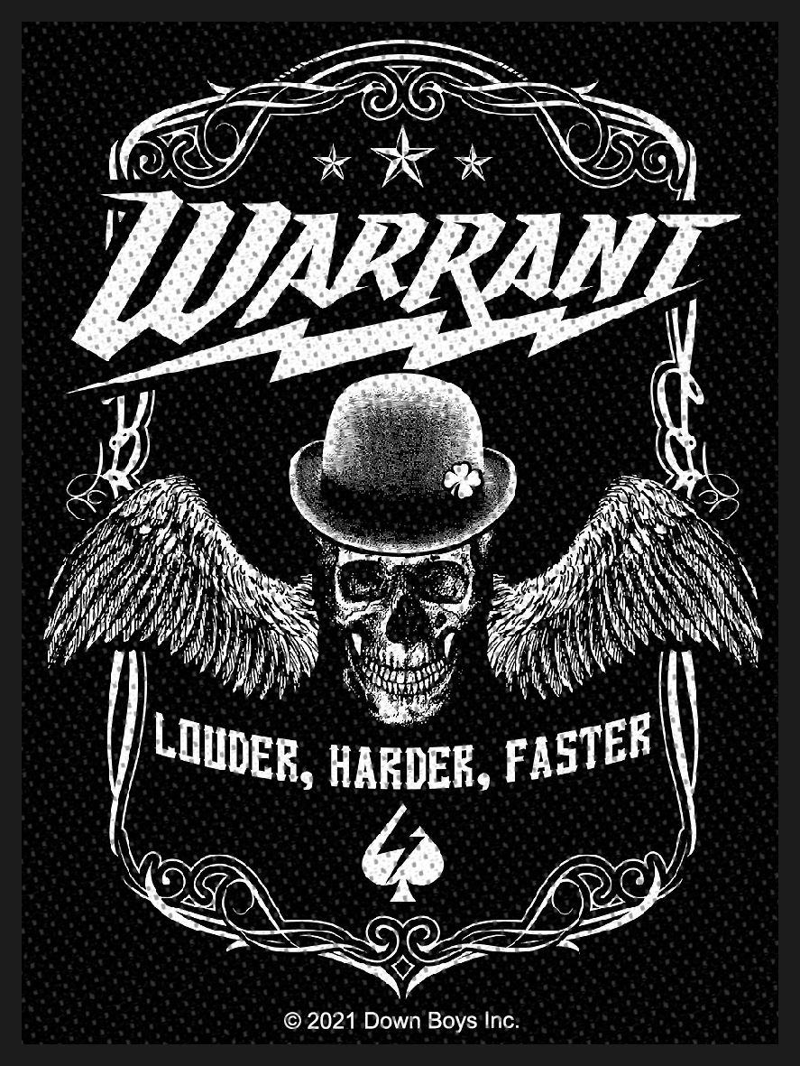 WARRANT - LOUDER HARDER FASTER patch