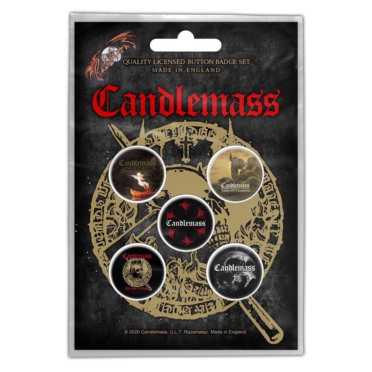 CANDLEMASS - THE DOOR TO DOOM Button Badge 5-Pack