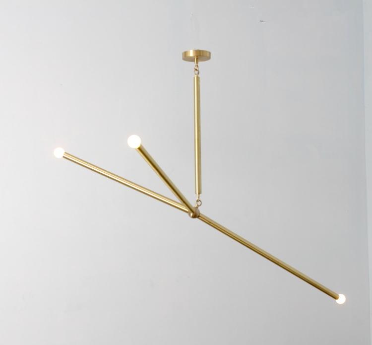 3 armad brass chandelier