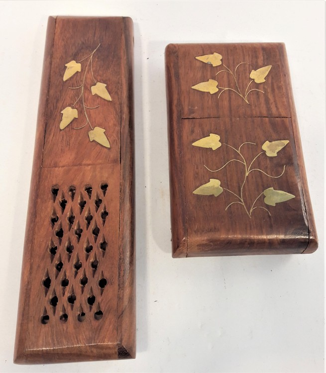 Etui i snidat trä, x1