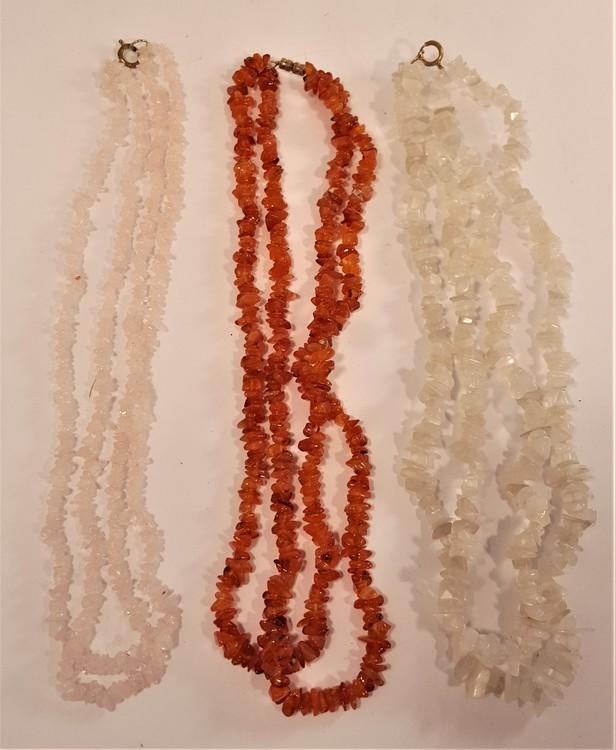 Halsband i olika färger, dubbelt, 3 olika att välja på, x1
