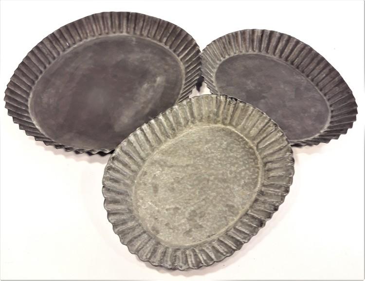 Ljusfat i metall, 3 varianter