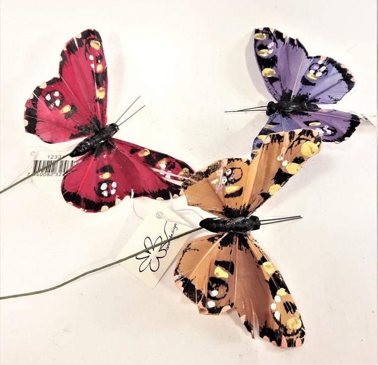 Vackra fjärilar att dekorera med, 3 varianter