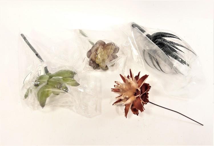Blommor för dekoration, 4 olika varianter