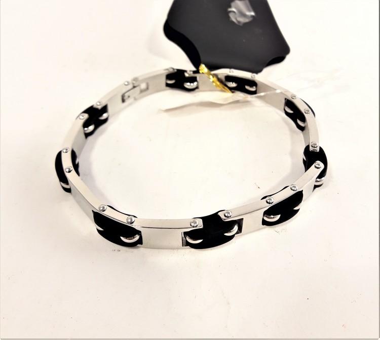 Armband med rostfritt stål och  gummi