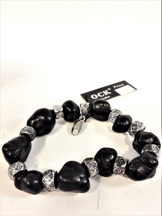 Armband i svart och silver