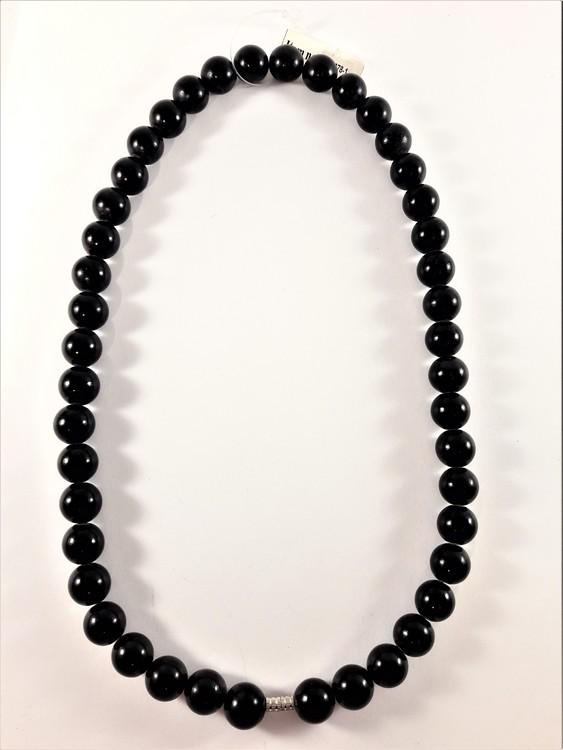 Halsband med kulor i svart