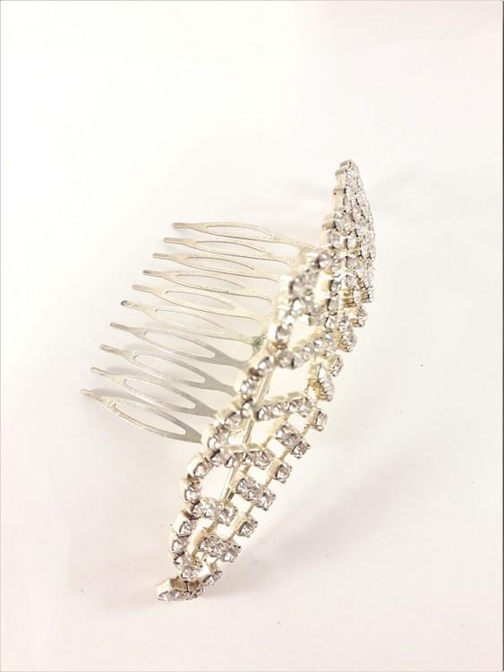 Hårkam - superfin krona med strass