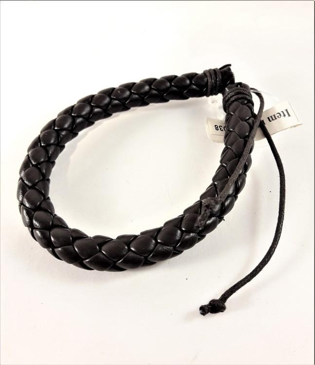 Armband Flätat Läder Brun
