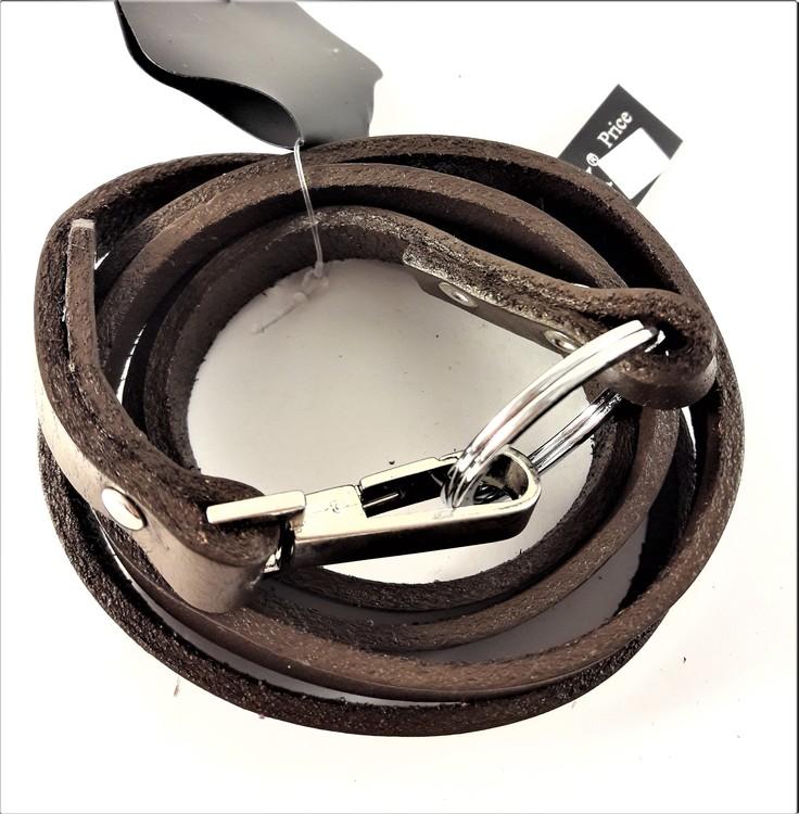 Långt Armband/Rem Brun Läder