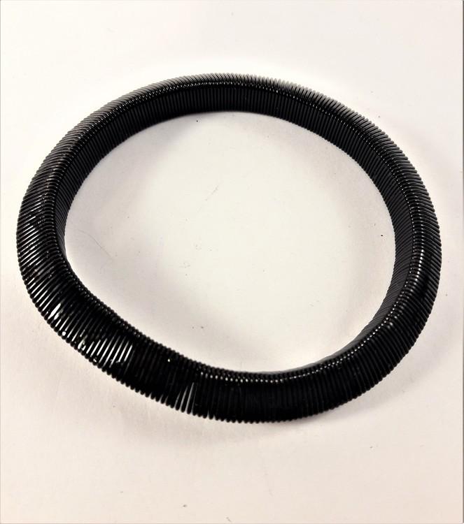 Armband i metall, slätt, svart