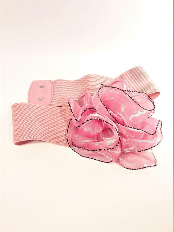 Snyggt damskärp med ros för fest eller vardag, rosa