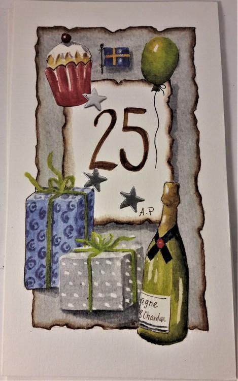 """Grattiskort """"25 år"""""""