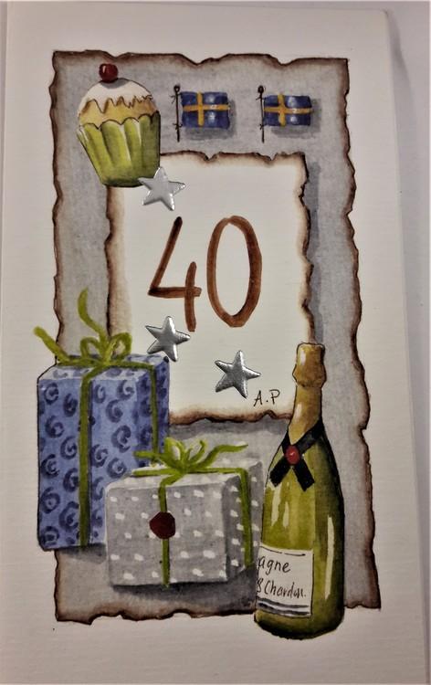"""Grattiskort """"40 år"""""""