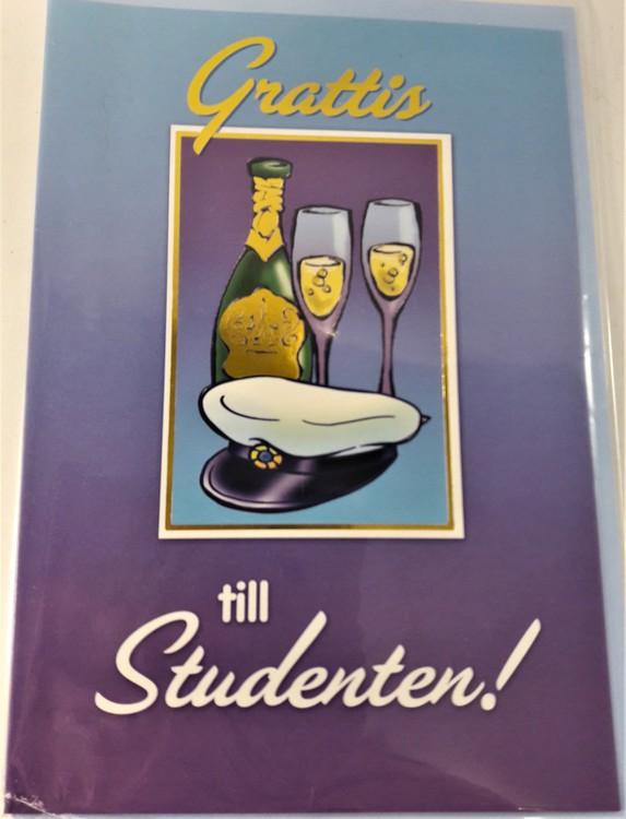 """Grattiskort """"Grattis till Studenten"""""""