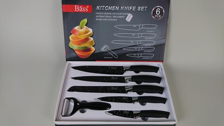Knivset i rostfritt stål med 6 delar, Bass