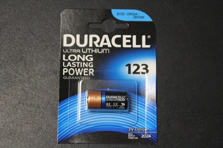Batteri, Duracell Ultra Lithium 3 volt, CR17345/CR123A/EL123