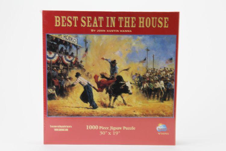 Pussel 1000 bitar, Best seat in the house - John Austin Hanna, 30x19 tum / 75X48 cm