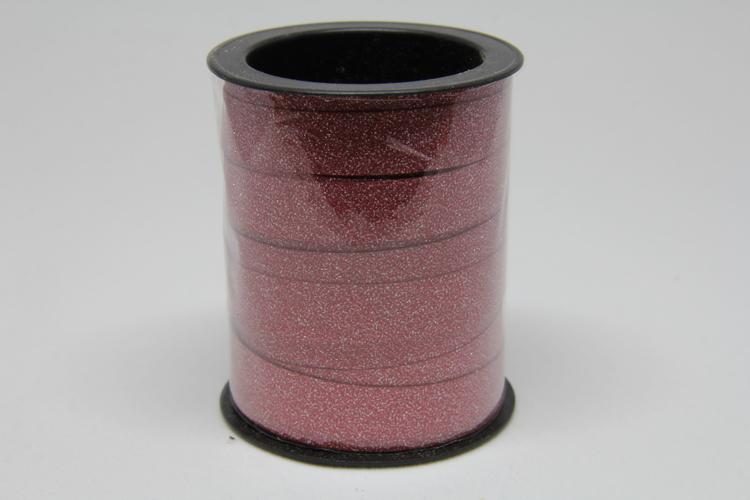 Glitterband, Victoriadesign, rött 10 mm x 10 meter