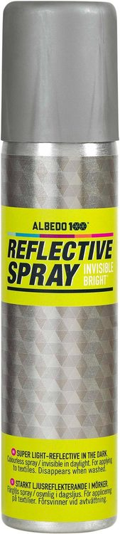 Albedo 100 Reflective spray Invisible Bright  100 ml För textilier