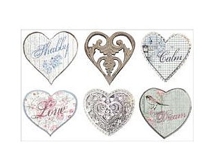 Shabilicious Vinyl Heart Stickers