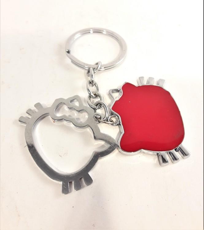 Nyckelring med Hello Kitty-motiv, 2 berlocker
