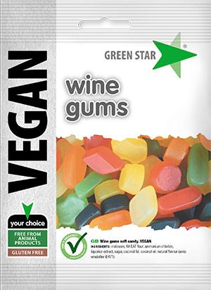 Green Star Wine gums vegan glutenfri 80 g