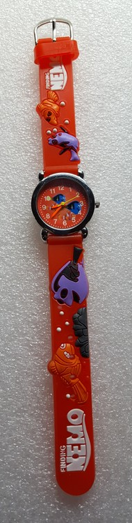 Barnklocka Hitta Nemo, röd urtavla