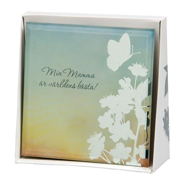 Spegeltavla, Silver Silhouette - Min Mamma är världens bästa!