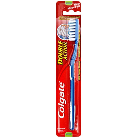 Colgate Double Action Tandborste Medium - Blå