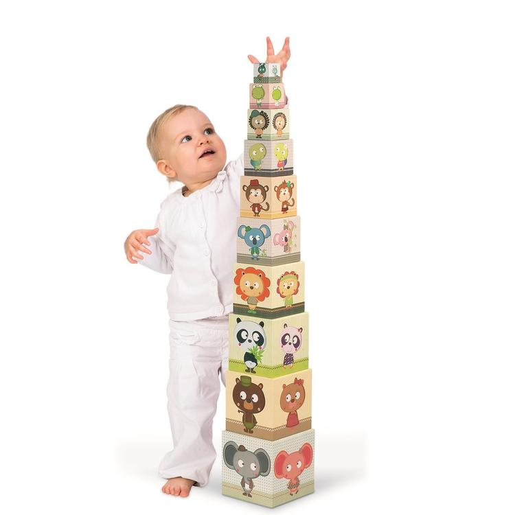 """Janod Square Stacking Pyramid - """"Family Portraits"""""""