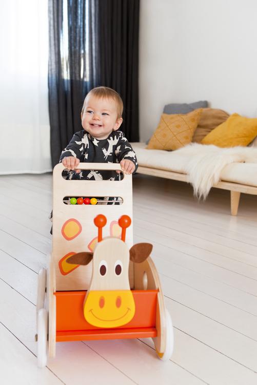 Scratch Gåvagn med giraff
