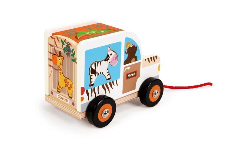 Scratch Sorterings- Djungelbil med djur