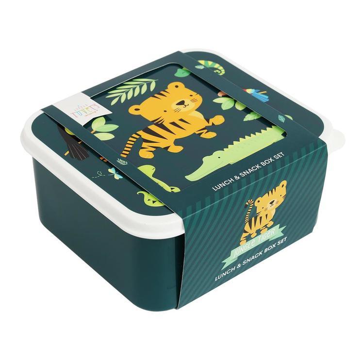 Lunch & snack box set: Jungle tiger