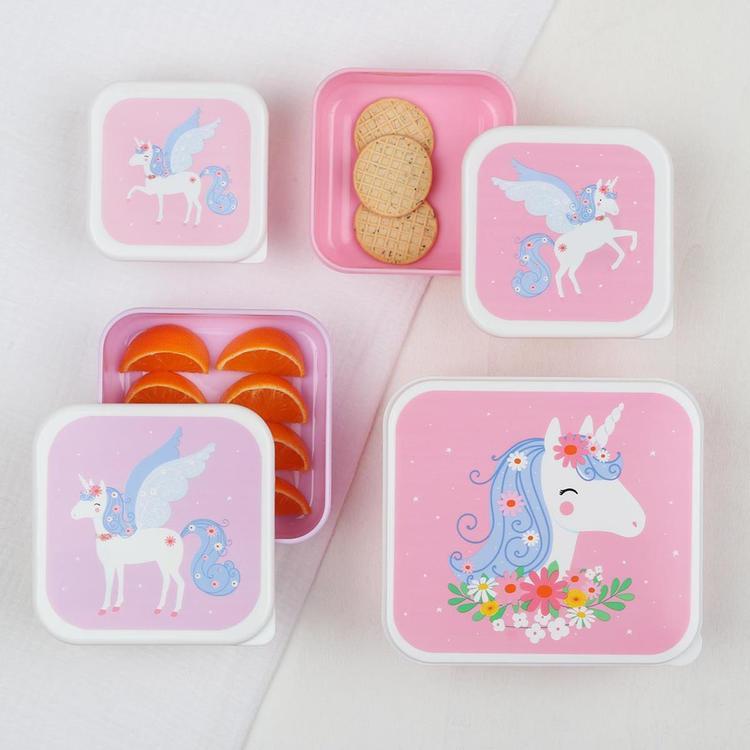 Lunch & snack box set: Unicorn