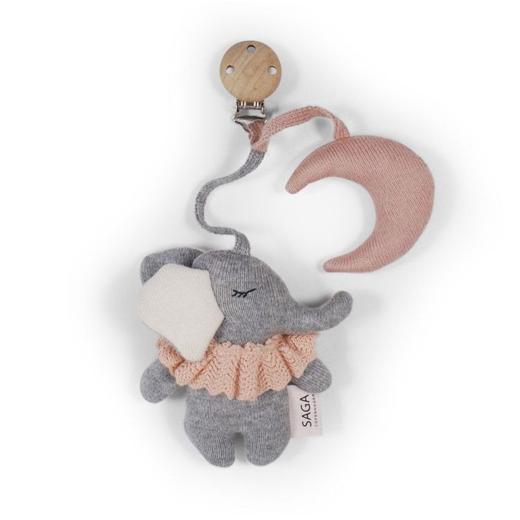 Saga Copenhagen Vagnhänge Elefant rosa