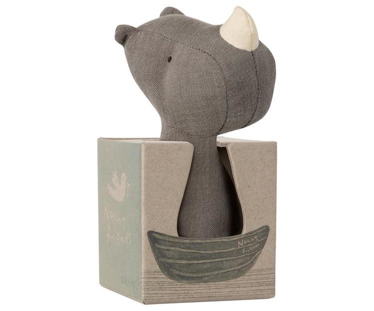 Maileg Skallra Rhino rattle