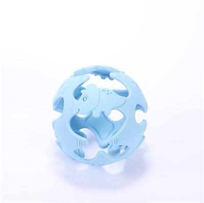 Tiny Tot Silikonboll Blå