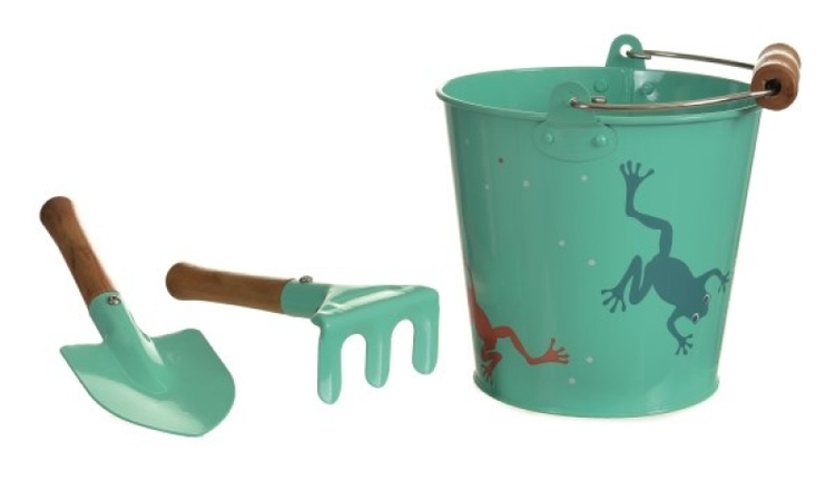 Egmont Plåtspann med spade och kratta