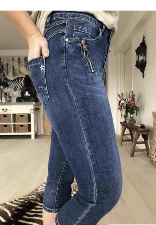jeans mörkblå 3/4
