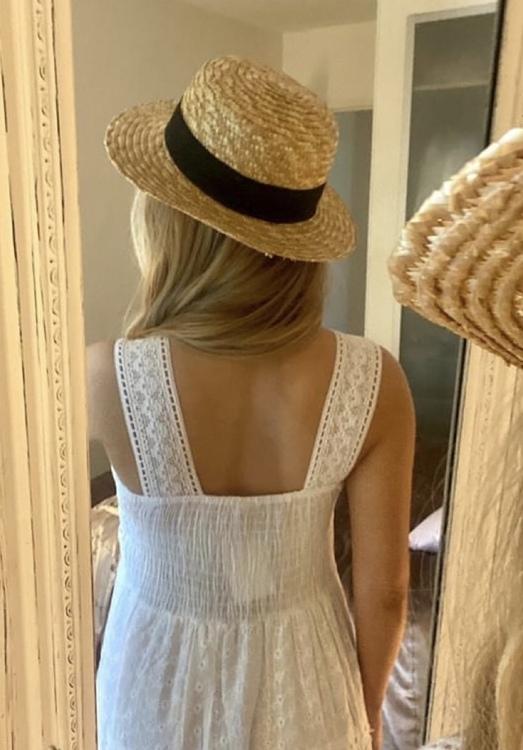 Lång klänning vit