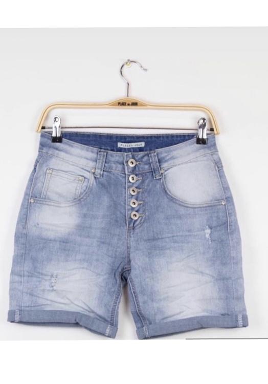 Place du jour shorts Ljusblå med slitning