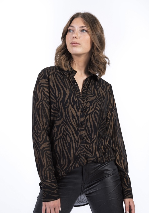 capri collection  TEMPEST SHIRT BLACK/ANTIQUE GOLD