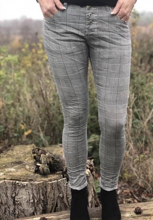 Place du jour Jeans grå rutiga