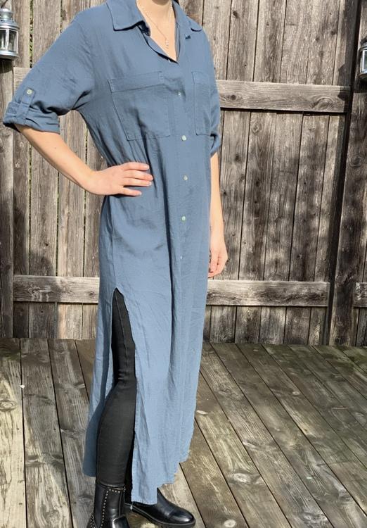 Skjort klänning jeansblå
