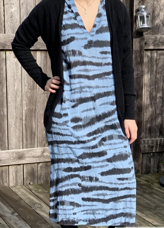 Zebra Mönstrad klänning Jeansblå