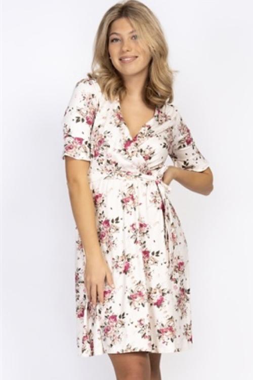 capri collection   ROSIE DRESS CREME/ROSE/AMBER
