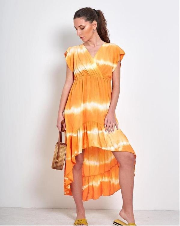 Batik klänning Orange