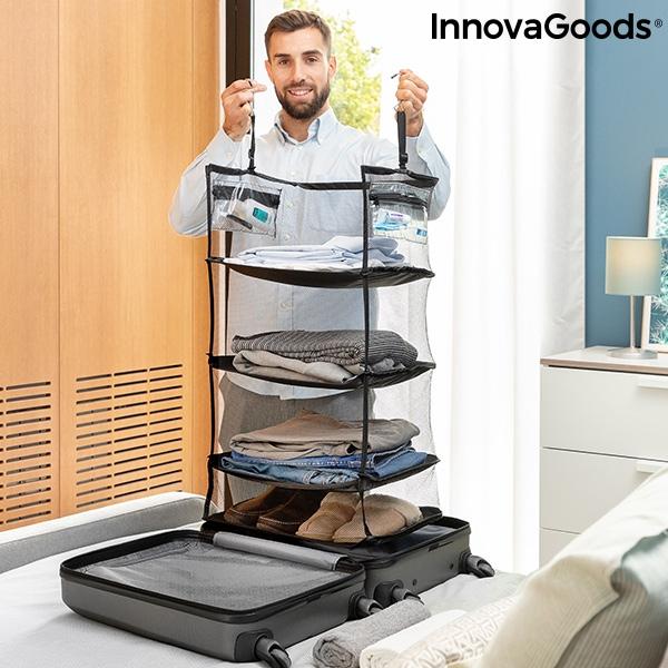Hyllsystem Hopfällbart till resväskan
