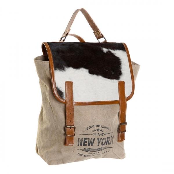 Ryggsäck Design New York Läder/Bomull